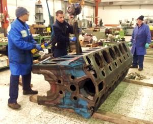 riparazione basamento motore diesel weichai per gruppo elettrogeno